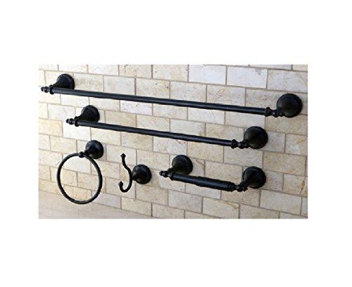 Naples Oil Rubbed Bronze 5-piece Bathroom Accessory - Accessories Bronze Bath Old