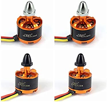 Opinión sobre QWinOut JMT 920KV Brushless Motor with Motor Cap for 3-4S Lipo F330 F450 F550 Compatible for dji Phantom Cheerson CX-20 DIY RC Quadcopter Drone (CW2+CW2)