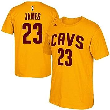 Lebron James # 23 Cleveland Cavaliers de la NBA juventud reproductor nombre y número camiseta oro