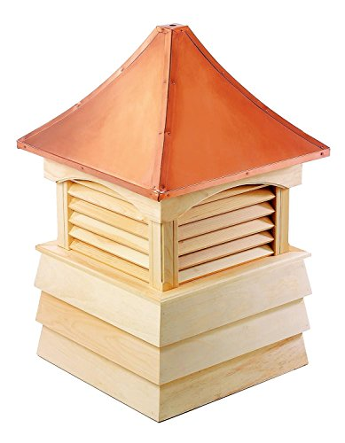107'' Handcrafted ''Sherwood'' Copper Roof Wooden Cupola by CC Home Furnishings