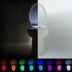 IllumiBowl Toilet Night Light - (As Seen On Shark Tank) Motion Activated, Multi-Color, Universal Fit