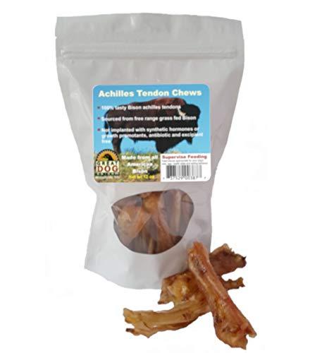 Great Dog Bison Achilles Tendon Chews 3/4 LB Bag