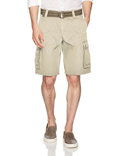 Lee Men's New Belted Wyoming Cargo Short, Stone, 42