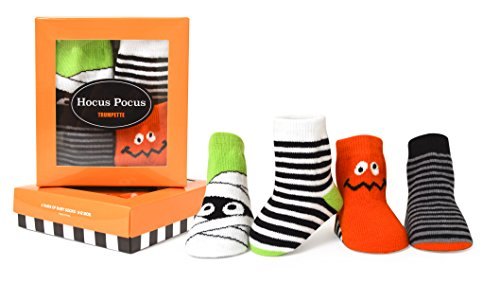 (Trumpette Baby Boys Sock Set-4 Pairs, Hocus Pocus - Assorted Brights, 0-12 Months)