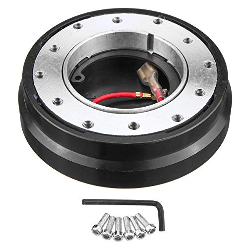 Star-Trade-Inc - Universal Car Aluminium Steering Wheel Quick Release Hub Hubs Adapter Snap Off Boss Kit Thin Short Stytle