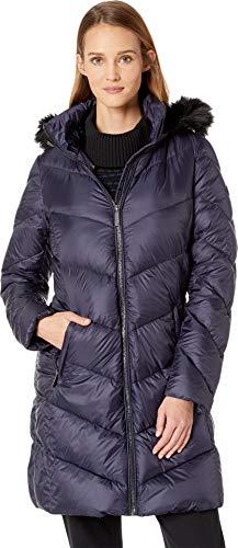 MICHAEL Michael Kors Women's Zip Front Down Coat M823815GZ Navy Medium
