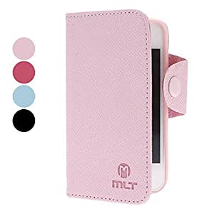 PU Leather Full Body Case with Card Slot and Strap for iPhone 4/4S (Optional Colors) --- COLOR:Pink
