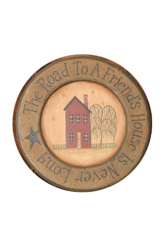 Your Heart's Delight Wood Home The Road to a Primitive Plate, 10-3/4-Inch by Your Heart's Delight (Image #2)