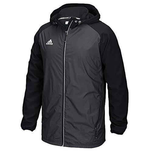 (Adidas Mens Modern Varsity Woven Jacket (Black, 2X-Large))