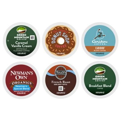 Coffee Pack Variety Pods (Keurig Variety Pack, Single Serve Coffee K-Cup Pod, Variety, 72)