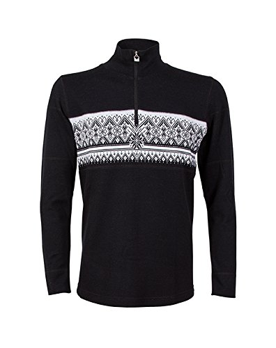 Dale of Norway Men's Rondane Masculine Sweater, Black/White Mel, - Dale Mens Norway Sweater
