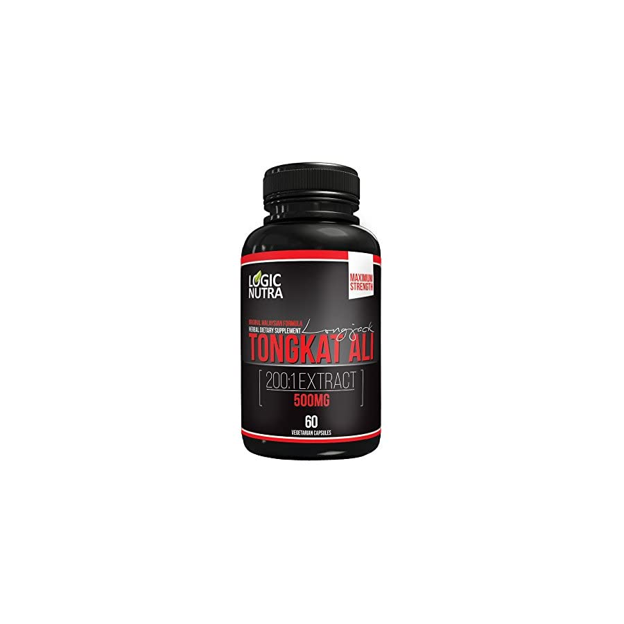 Maximum strength Longjack 200:1 Tongkat Ali 500 mg Testosterone Booster 60 Vegetarian Capsules