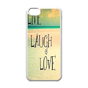 Custom New Cover Case for Iphone 6 4.7'', live laugh love Phone Case - HL-516158