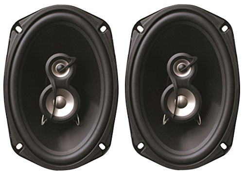 Planet Audio TQ693 6 x 9-Inch 3-Way Poly Injection Cone Speaker System (Black)