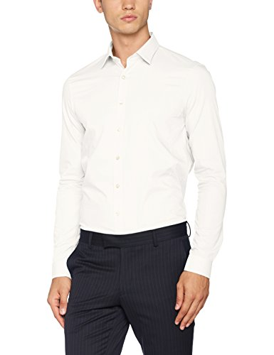 Calvin Homme Slim Blanc Extra Venice Fit Klein white Ftc Business Chemise 8B8wqRr