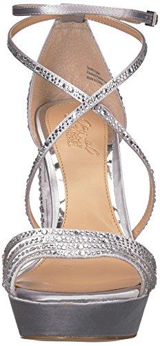 Mischka Jewel Silver Heeled Tarah Sandal Badgley Women's 8wfqwO5