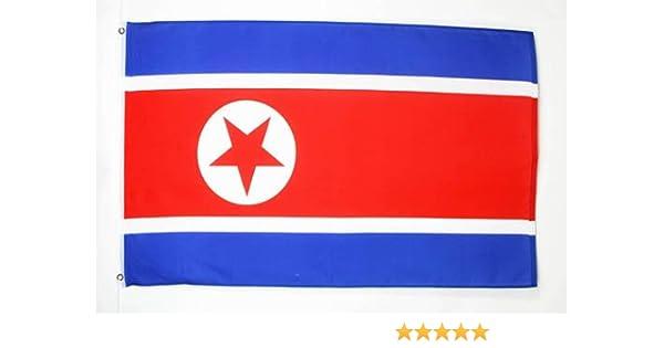 AZ FLAG Bandera de Corea del Norte 90x60cm - Bandera NORCOREANA 60 x 90 cm: Amazon.es: Jardín