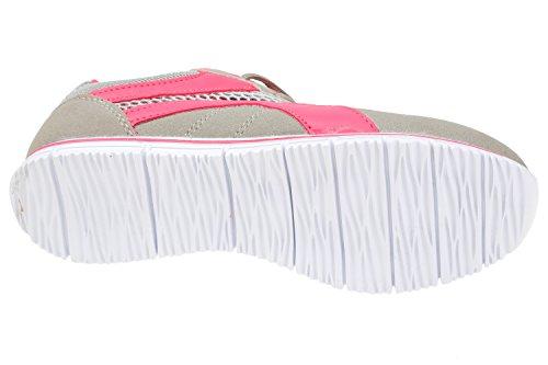 gibra - Zapatillas de tela para mujer gris/rosa