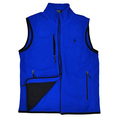 Ralph Lauren Mock Neck - Polo Ralph Lauren Mock Neck Fleece Vest (Small, Blue)