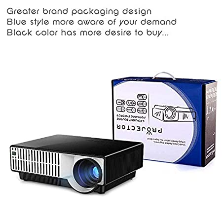 Qucking Light Proyector LED, Proyector Doméstico Android WiFi ...