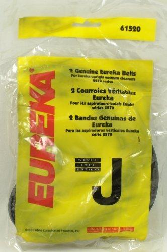 Eureka Upright Vacuum Cleaner Style J Belt, OEM Number 61520-12, 2 belts in pack