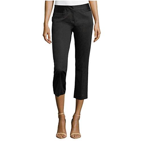 Lafayette 148 New York Polished Cropped Pants, Black, US 2 ()