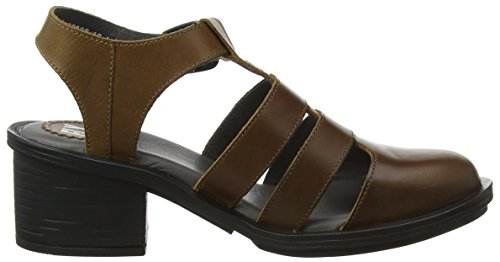 Toe Closed Brown Fly Camel Heels London Cahy195fly Women's S4nqqwPg