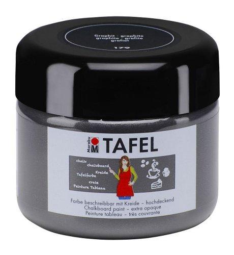 Marabu 025925179 - Tafelfarbe, 225 ml, graphit