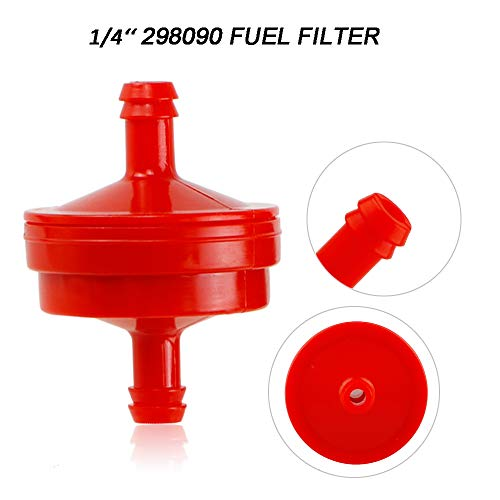 120-440 Primer Bulb with 44-2750 298090-s Primer Bulb Fuel Filter Primer Line for Toro Briggs Stratton fit Lawn-Mower and Snow-Blower HSK635 Carburetor 66-7460