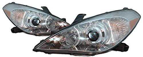 (For 2007 2008 Toyota Solara Headlight Headlamp Driver Left and Passenger Right Side Pair Set Replacement TO2502186 TO2503186)