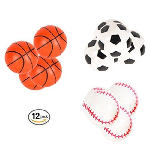 Play Kreative Sports 33MM Super Hi Bounce Balls - 12 Pack - 1.25