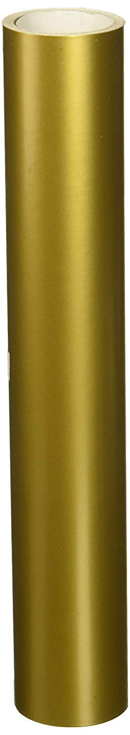 Oracal 651 Permanent Glossy Adhesive Vinyl 12 Inches by 10 Feet Metallic Gold