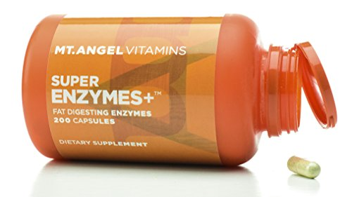 Mt. Angel Vitamins – Super Enzymes +, Fat Digesting Enzymes (200 Capsules) Review