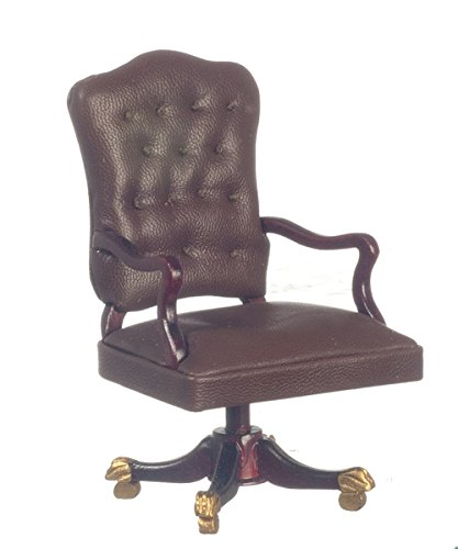 Dollhouse Miniature 1:12 Scale Platinum Collection Mahogany Governors Desk Chair #P3468 ()