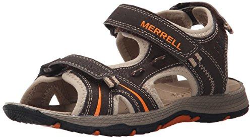 Merrell Panther Water Sandal (Toddler/Little Kid/Big Kid), Brown/Black, 10 M US Toddler