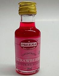 Preema Strawberry flavour essence 28ml x 3 [Kitchen & Home]