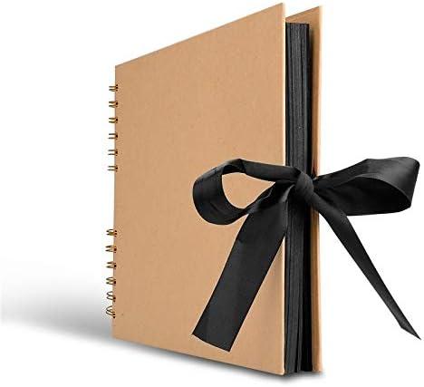 Wiber álbum de Fotos con 80 páginas Negras (40 Hojas), 30,5 x 20,3 ...