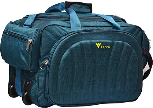 Fedra Expandable Waterproof Polyester Lightweight 60 L Travel Duffle with 2 Wheels Green
