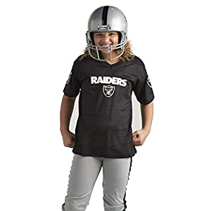 Franklin Sports Las Vegas Raiders Kids Football Uniform Set - NFL Youth Football Costume for Boys & Girls - Set Includes Helmet, Jersey & Pants - Small