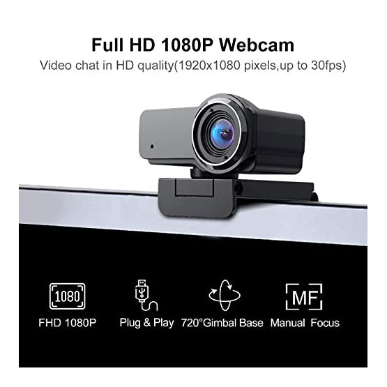 HD Webcam 1080P with Microphone, Ausdom USB Computer Web Camera, OBS Live Streaming Webcam, Widescreen Video Camera for… 41oDtACIQKL. SS555