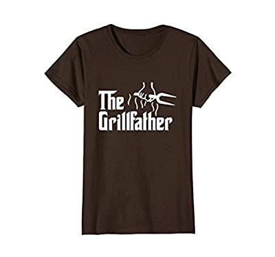 The Grillfather Funny BBQ Dad BBQ Grill Dad Grilling T Shirt from Grill Master BBQ Pitmaster BBQ King BBQ Lover Gift