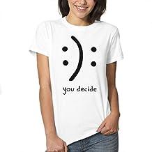 Assivia Women's T-Shirts Cotton Funny Juniors Casual Short Sleeve Top Tees