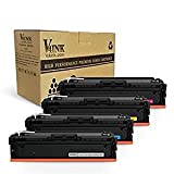 V4INK New Compatible 201X CF400X CF401X CF402X CF403X CF400A Toner Cartridge for HP Color LaserJet Pro M252dw M252n MFP M277dw M277n, 4 Pack