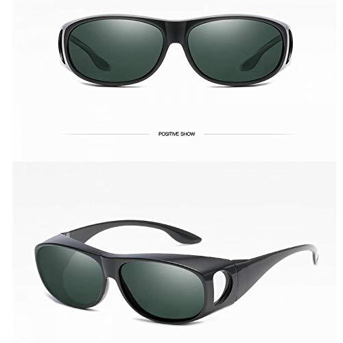 Soleil black air de Conduite polarisé Hommes green Sports Plein and Lunettes de Miroir de Bright Burenqiq Miroir Miroir wOqABOZ