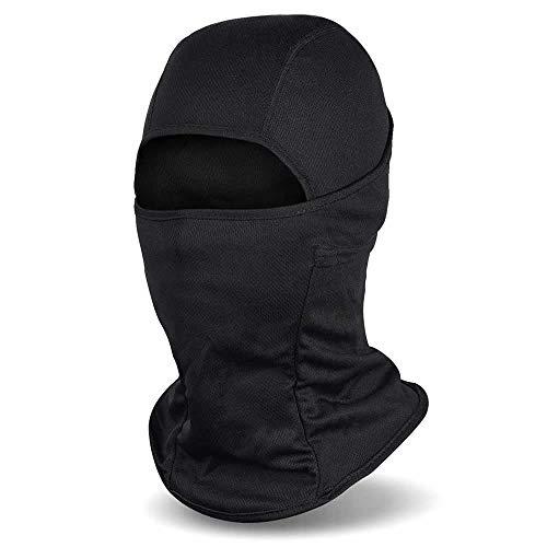 Balaclava, Windproof Mask Adjustable Face Head Warmer for Skiing, Cycling, Motorcycle Outdoor Sports Motorcycle Tactical Skiing Face Mask (Black)