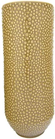 "Bloomingville 19.5"" H Embossed Stoneware Pebble Pattern Vase, Mu"