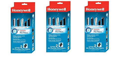 Honeywell HRF-B2 Filter B Household Odor & Gas Reducing Pre-filter (3 Pack) (Honeywell Air Purifier Tabletop)