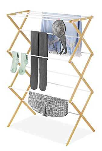 Whitmor Drying Rack with Top Shelf-Indoor and Outdoor-Foldable-Natural, Wood by Whitmor (Image #1)