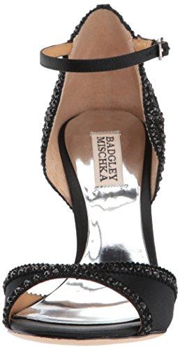 Donne 6 Tacco Sandalo Di Noi Delle Nudo Nera Raso M Badgley Roxy Mischka 1Stq1xw