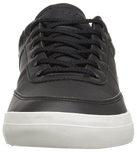 Sneakers Corte Da Uomo Lacoste In Pelle Nera / Bianca